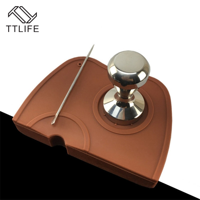 TTLIFE L de silicona antideslizante prensa café titular Mat cafetera Espresso Base de apoyo Flexible alfombra de esquina de manipulación de herramientas de café