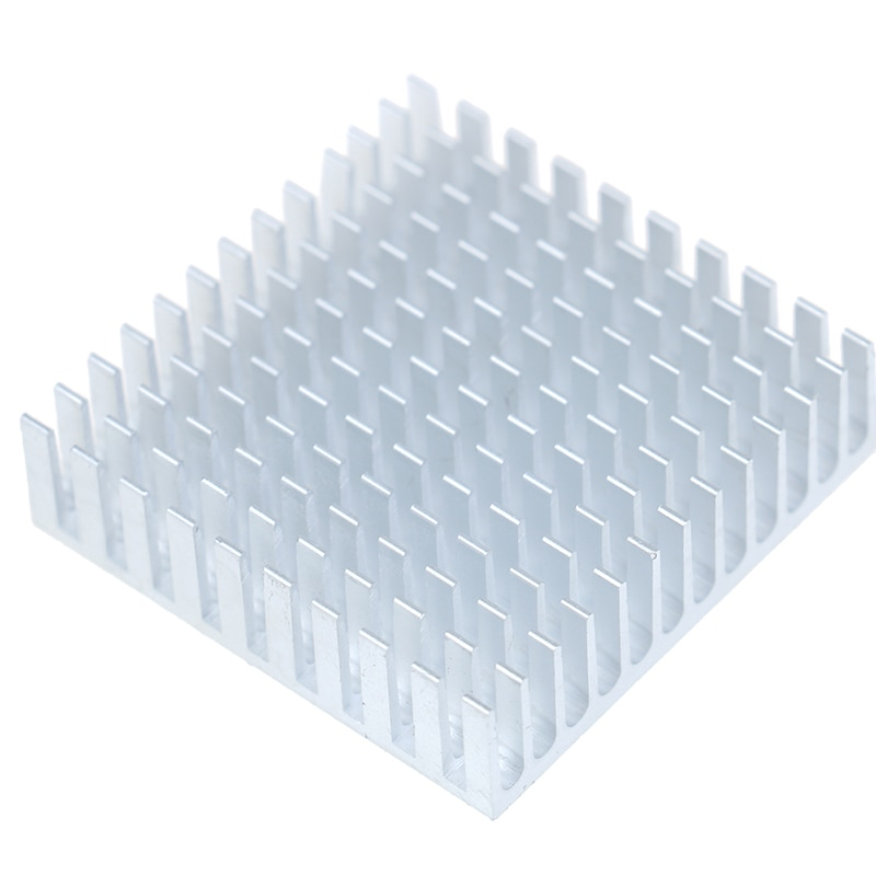 2 uds disipador de calor de aluminio disipador de calor radiador enfriador de refrigeración para Chip electrónico IC LED ordenador con cinta conductora térmica