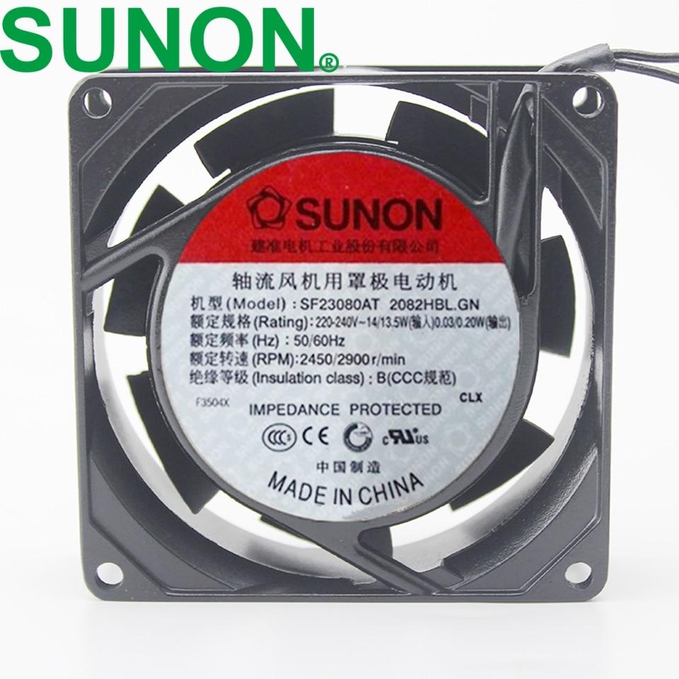 1 قطعة SF23080AT 2082HBL.GN مروحة AC 220V ~ 230V المعادن إطار للاسماك خزان التبريد مروحة 8025 8 سنتيمتر 80 مللي متر