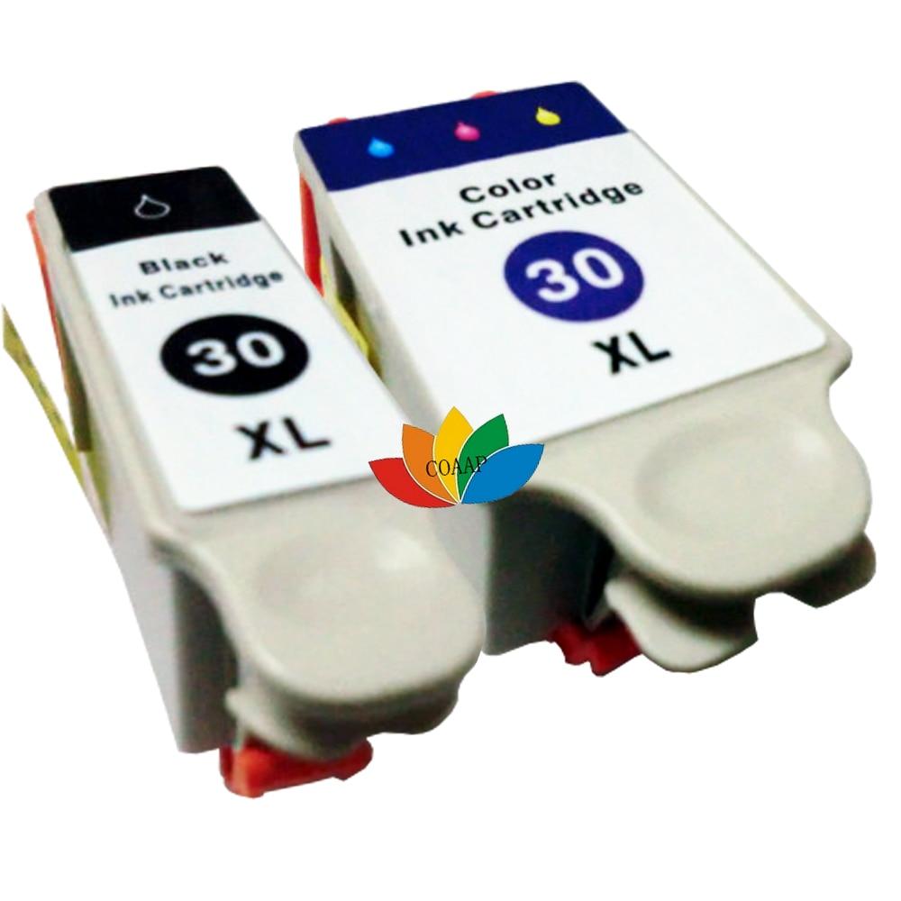 2 cartuchos de tinta para compatível kodak 30 esp series c100 c300 c310 c110 c315 1.2 3.2 3.2 s office 2100 2150 2170