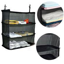Portable Travel Storage Bag Travel Shelves Shelf Foldable Hanging 3 Layers