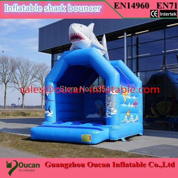 Envío Gratis castillo inflable de tiburón 4x3,5x4m