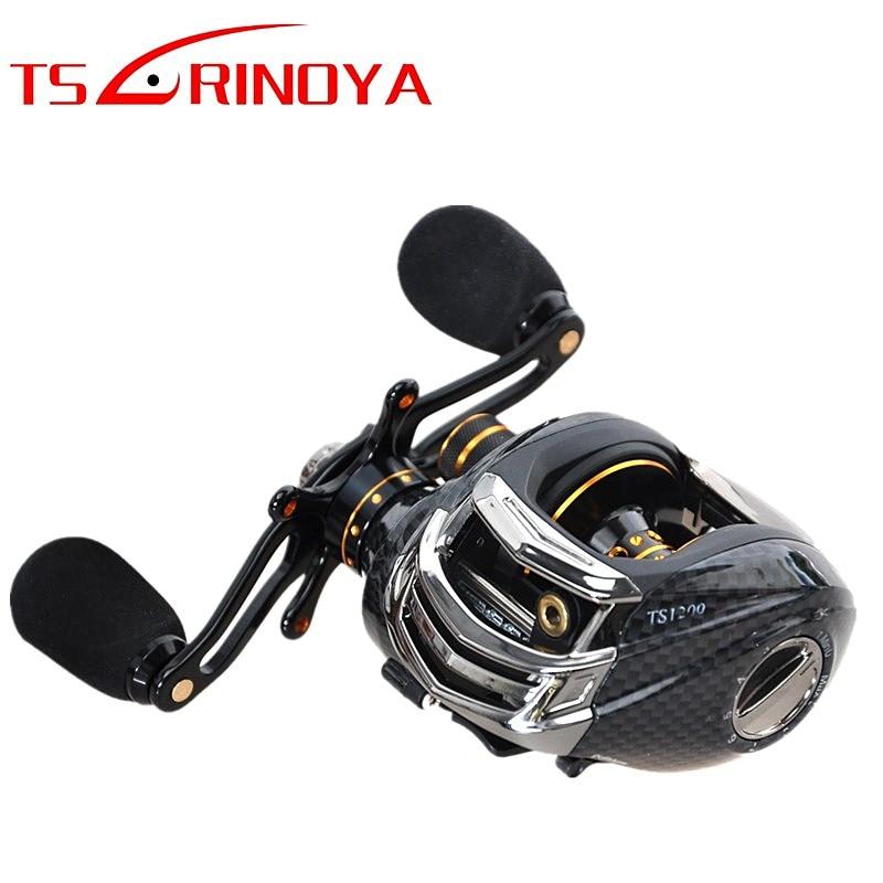TSURINOYA carrete De Pesca Baitcasting 13 + 1BB 6,3 1 mano carrete para baitcasting Max Drag 4kg rueda Carretilha De Pesca Molinete