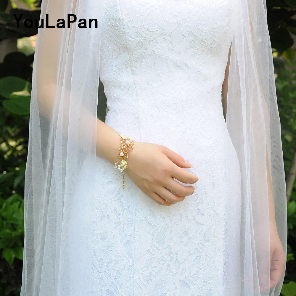YouLaPan D14 Pérolas de Água Doce Do Casamento de Noiva Pérola Cuff Cuff Personalizado Feito pelo Bracelete Frisado do baile de Finalistas Do Casamento Mão Wrist Band