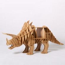 1 set 30*65 pouces en bois Triceratops Dinasaur Table dappoint/buffet pour Art décoration de la maison TM010M