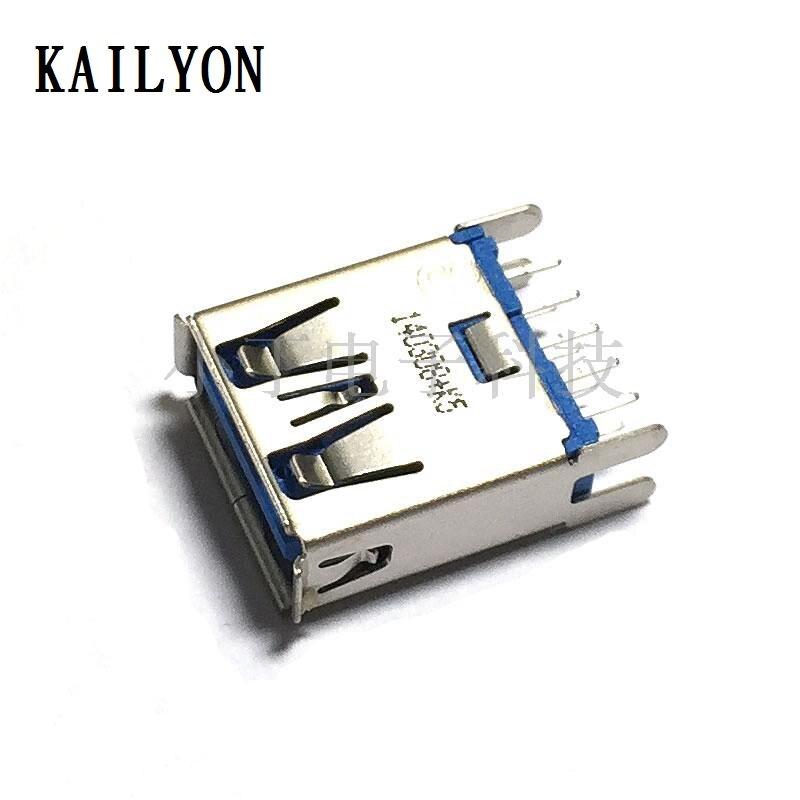 100 قطعة عالية الجودة إلكتروني لهجة 3 العمودي خاص USB واجهة ، USB مستقيم في ، 4 أقدام ثابتة ، USB180 درجة إدراج مجلس