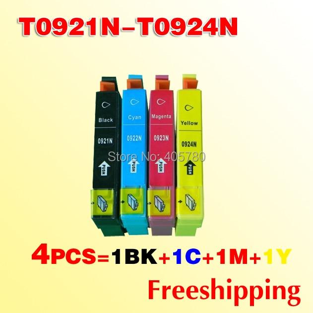Cartucho de tinta compatível para Epson TX106 T0921N-T0924N TX109 TX117 TX119 cartucho de tinta +