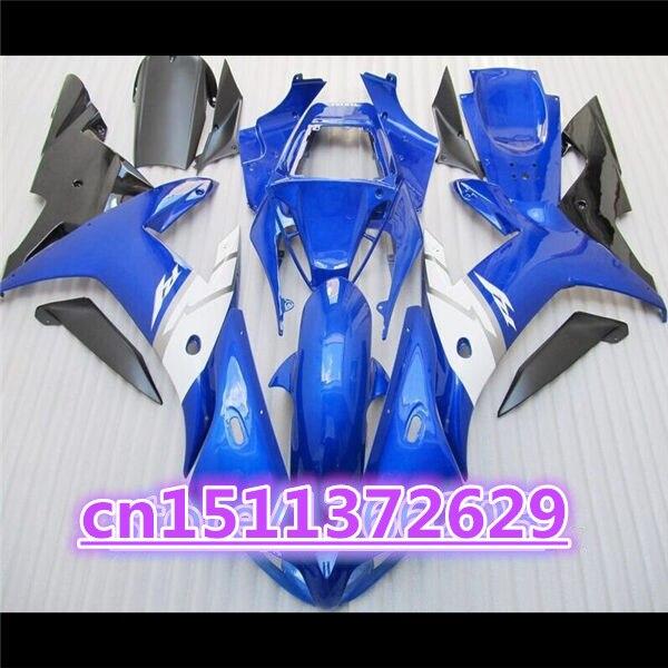 المبيعات الساخنة ل 02-03 YZF R1 02 03 YZF 1000 الأزرق أسود أبيض YZF-R1 YZF-1000 YZFR1 YZF1000 2002 2003 هدية الجسم
