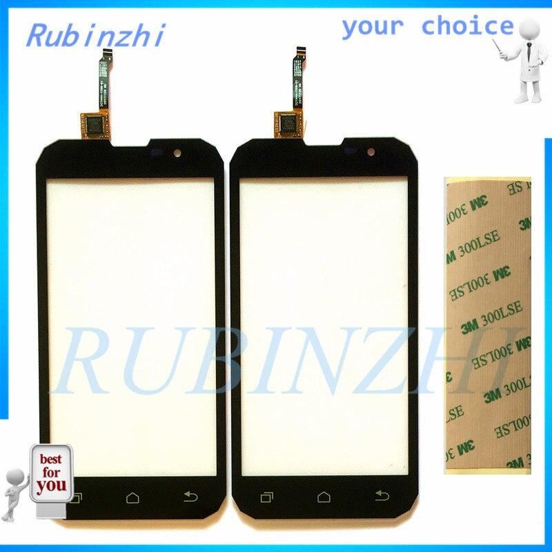 RUBINZHI + con cinta 3 M, Sensor de pantalla táctil del teléfono móvil para Geotel G1, Digitalizador de pantalla táctil, lente de cristal frontal, Panel táctil