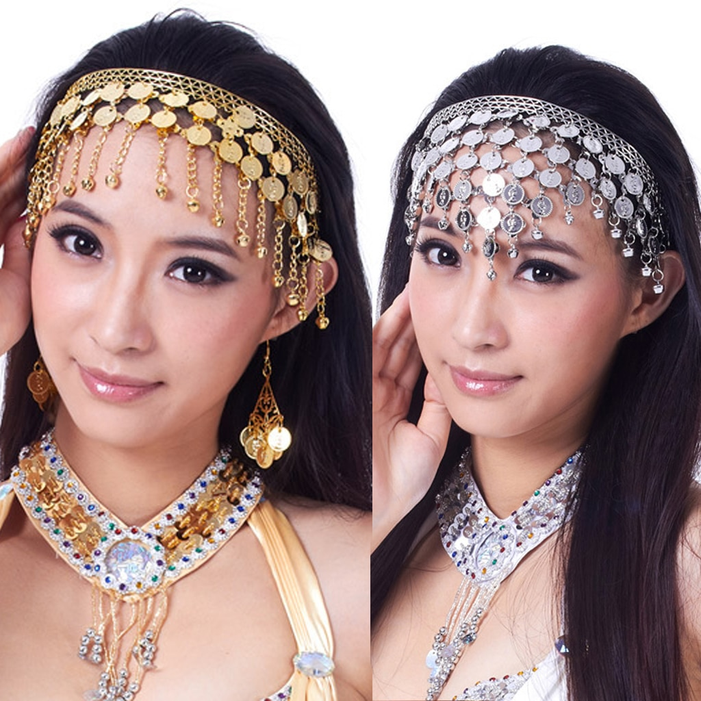 Belly Dance Tribal Coins Headband Jewelry Festival Costume Headdress