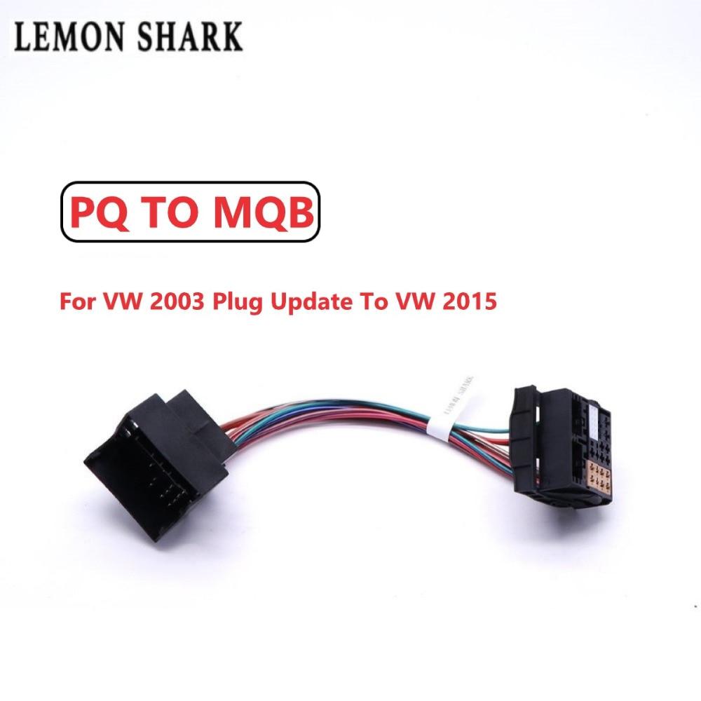 Радиоадаптер LEMON SHARK, обновленный ISO RCD330 RCD330G PLUS для VW 2003 до VW 2015 PQ до MQB