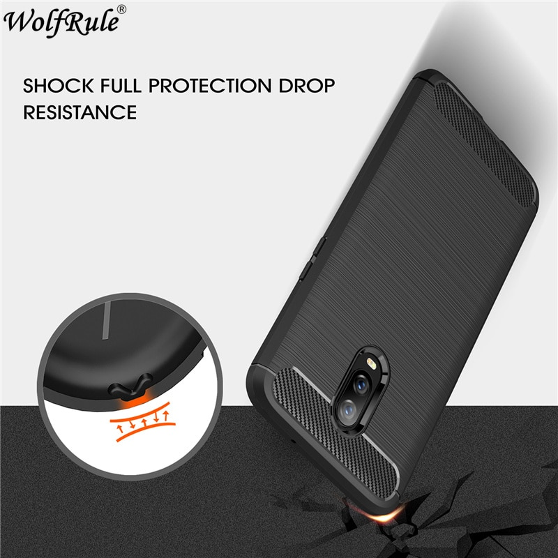 Wolfrule Cover Oneplus 6T Case Full Protective Bumper Carbon Fiber Case For Funda Oneplus 6T Cover O