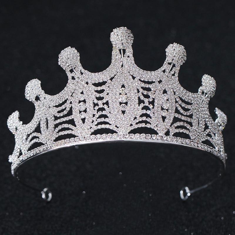 Novia boda corona lujo cristal princesa accesorios para el cabello mujeres moda...
