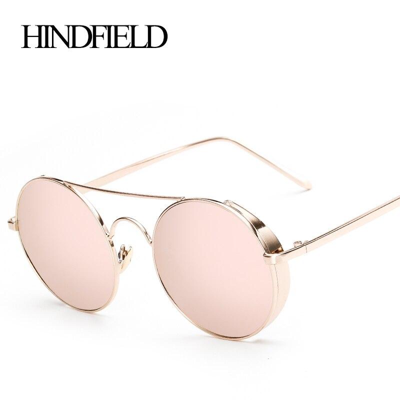 LONSY New Round Metal Steam punk Sunglasses Women Brand Designer Vintage Men Glasses UV400 Fashion O