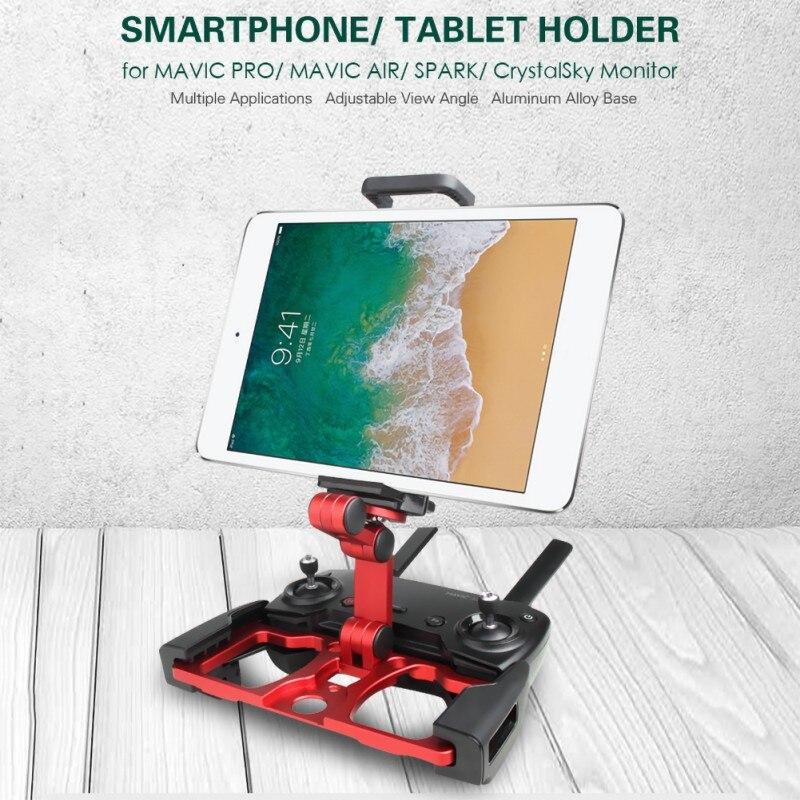 Para Mavic Pro/Air/chispa de Metal plegable Tablet/teléfono móvil soporte cielo de cristal Monitor para Mavic 2 Pro/Zoom