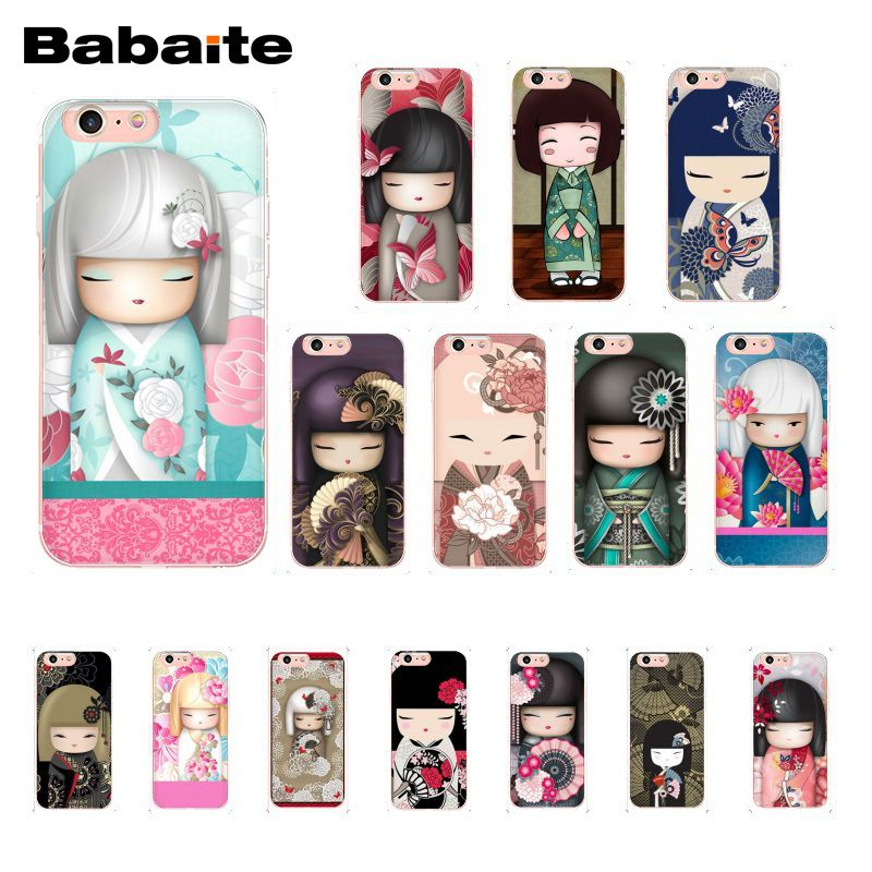 Babaite kawaii japonés muñeca de Kokeshi funda para teléfono para iphone 11 Pro 11Pro Max 8 7 6 6S Plus 5 5S SE XR X XS X MAX