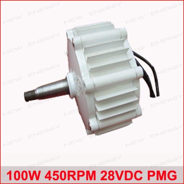 100 W 450 RPM 28VDC horizontal viento e hidroalternador/imán permanente agua energía dynamotor hidroturbina nueva energía alternador