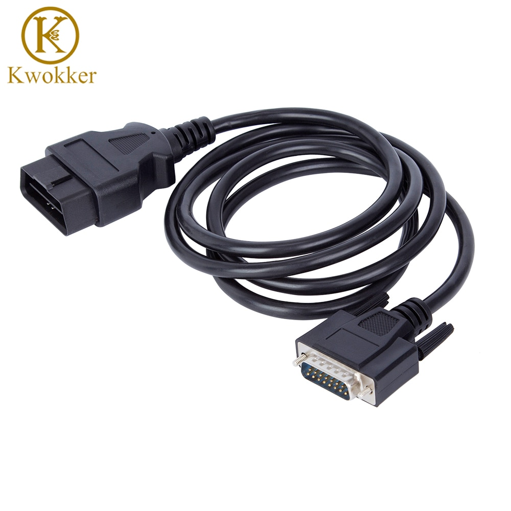 KWOKKER 5ft 16Pin OBD2 extensión macho a macho Cable DB9 a VGA...