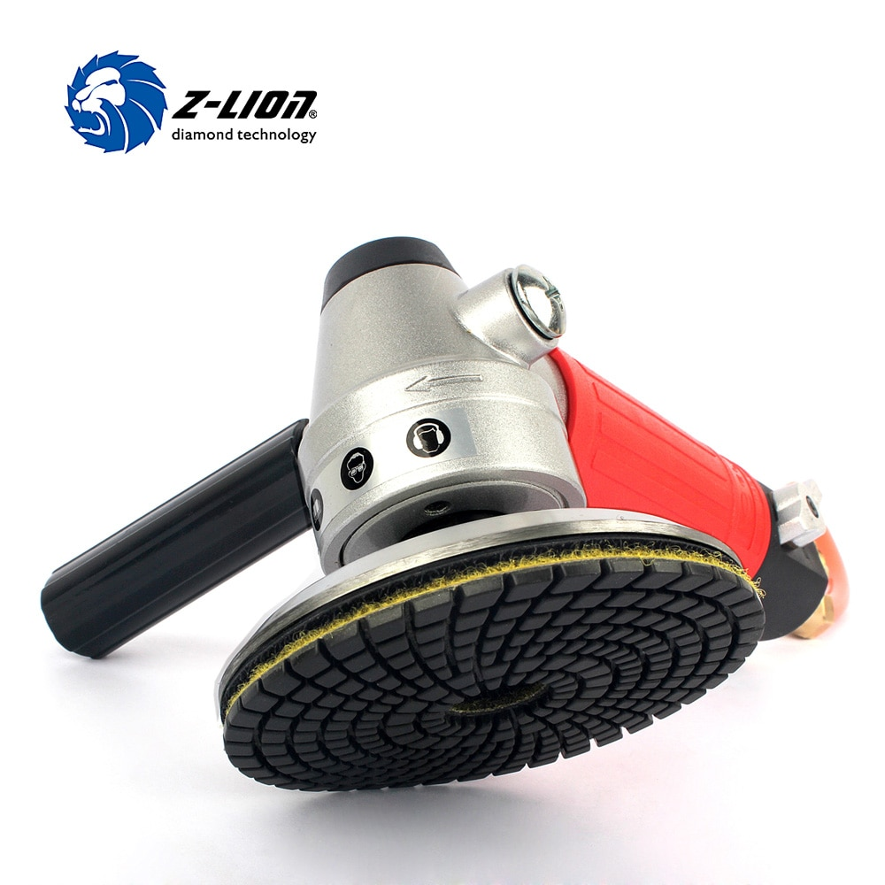 Z-LION 1 قطعة الهواء الرطب الملمع M14 الموضوع الهوائية عدة هوائية جهاز لسنفرة الخشب الملمع الهوائية مع 1 قطعة الألومنيوم لوحة الداعم 4
