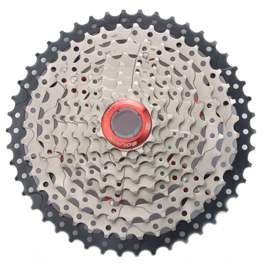 Rueda libre de bicicleta de 9 velocidades 27s cassette bicicletas de montaña Mtb gran proporción bicicleta Cassette piezas piñones 11-40T 11-42T 11-46T