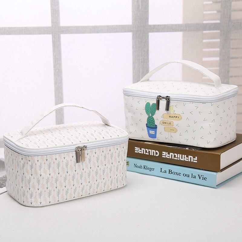 Grande capacidade das senhoras saco de maquiagem organizador de couro do plutônio saco de cosméticos para as mulheres saco de higiene pessoal kits de viagem esteticista sacos de armazenamento
