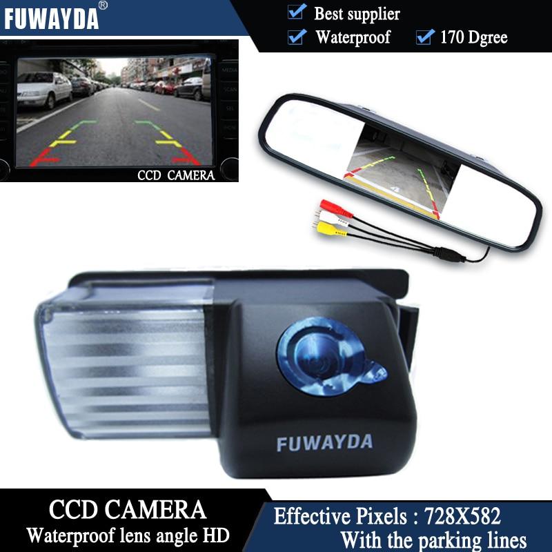 FUWAYDA CCD vista trasera de coche cámara para Nissan Livina Pulsar viceversa Sentra Fairlady350Z370Z de + 4,3 pulgadas Monitor de espejo retrovisor