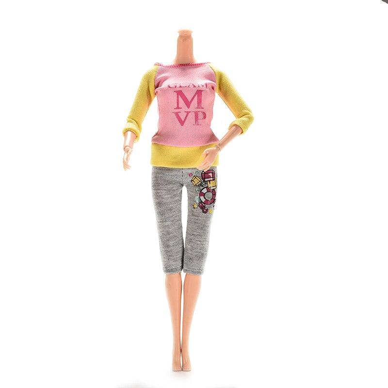 1 комплект, Одежда для куклы, модные наряды, Повседневное платье, костюмы для куклы, лучший подарок, Детские аксессуары для игрушечной куклы, детская игрушка