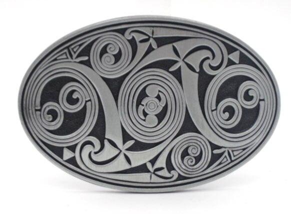 Oval Keltic Scroll Belt Buckle