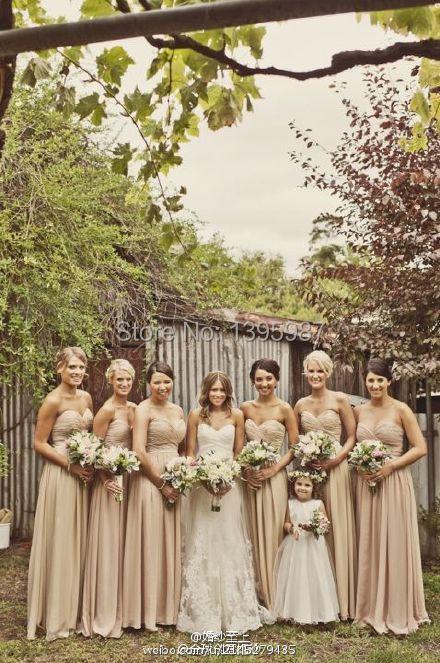 Sweetheart Neck Chiffon Sleeveless Elegant Romantic Bridesmaid Dresses 2015 Pleated Floor-Length Open back Maid Of Honor Dress