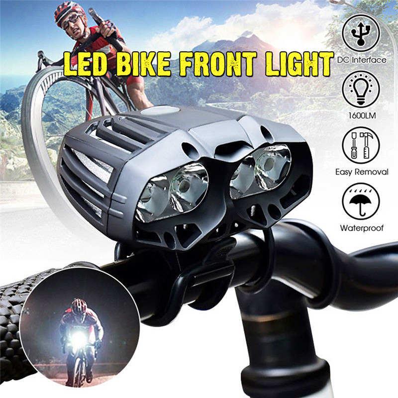 4x XML-T6 LED bicicleta luz delantera de ciclismo faro 4 modos potente led linterna cabeza linterna bicicleta #4S6