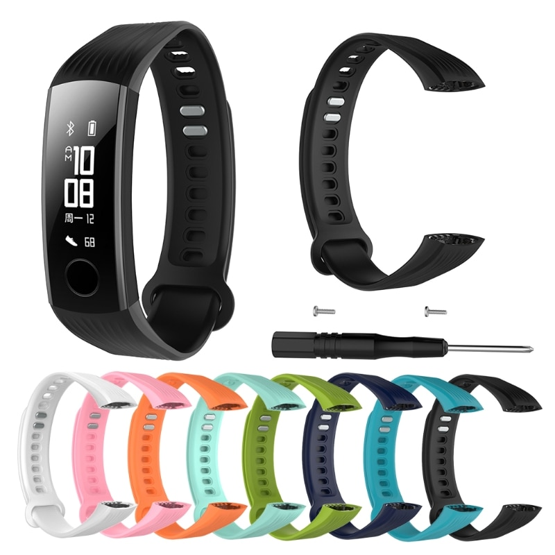Sports Silicone Bracelet Strap Wristband For Huawei Honor 3 Smart Watch Band