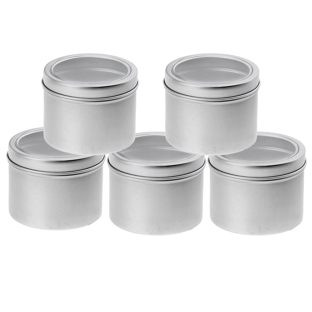 5x 100ml Aluminium Tin Lip Balm Tin Pots Cosmetic Cream Jar Bottle Container for DIY lip balms pills party favors candies