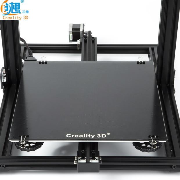 Новейший 3D принтер Creality, черный углеродный кремниевый кристалл, платформа 310*310 мм, стекло для Creality 3D CR-10/10 S