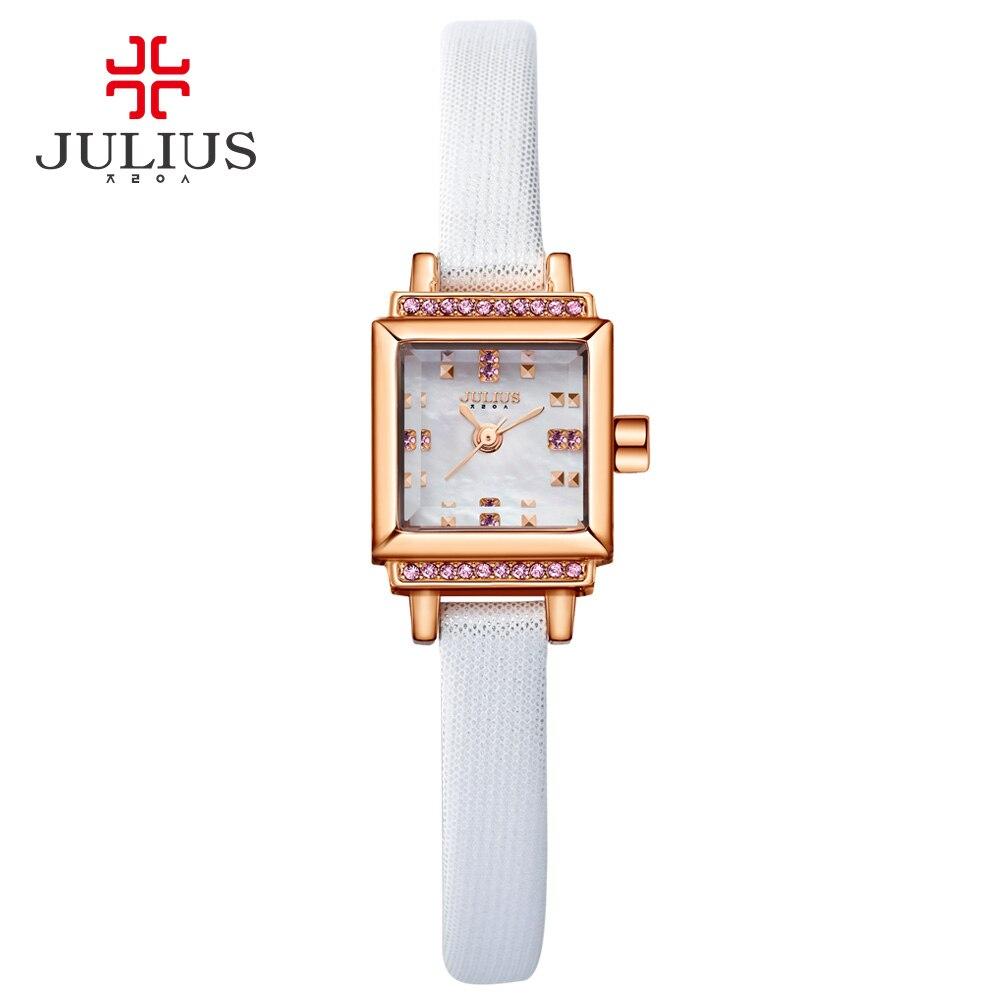 Designer de Senhoras de Aço Relógio com Logotipo Julius Mulheres Inoxidável Relógio Japão Movt Quartzo Preço Caro Qualidade Ja-880 Wr30m
