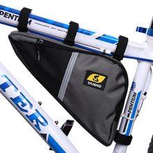 Yanho résistant à leau vélo Triangle sac cadre avant Tube Oxford tissu cyclisme vélo fermeture éclair Pack avec éponge absorbant les chocs