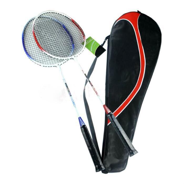 Alta qualidade universal de alta resistência leve liga de alumínio de pouco peso battledore raquete de badminton raquete com saco de transporte