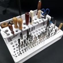 Outils de porte-outil bricolage   Couture manuelle contenant du cuir, Pidiao poinçon sculpture du cuir, ensemble de timbres artisanaux