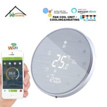 HESSWAY-application TUYA thermostat WIFI   Chauffage de refroidissement pour dessin de fils google home intelligent