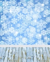 christmas photography backdrops snowflakes wooden floor blue 3d backgrounds for photo studio vinyl cloth computer printed custom
