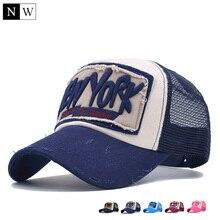 5 Panel NY Baseball Cap met Mesh Merk Snapback Hoed Trucker Cap New York Baseball Caps Mannen Vrouwen Meisjes Jongens Zomer Mesh Cap