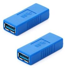 Paquet de 2 Super vitesse USB 3.0 type-a femelle à femelle adaptateur pont Extension coupleur sexe changeur connecteur