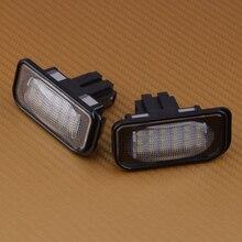 Citalll 2 uds sin errores 12V 18 luz LED de matrícula apta para Chrysler Crossfire Coupe & Roadster 2004 2005 2006 2007 2008