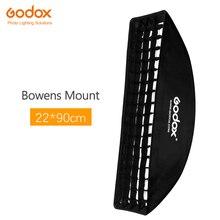 Godox 22x90 см Bowens крепление софтбокс с сотовой сеткой софтбокс для видео студии фото стробоскоп вспышка фотография Аксессуары