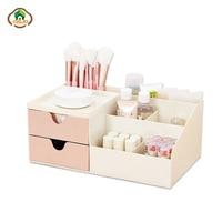 Msjo Makeup Organizer Box Plastic Office Multipurpose Desktop Sundries Drawer Storage Case Napkin Roll Paper Holder Tissue Box