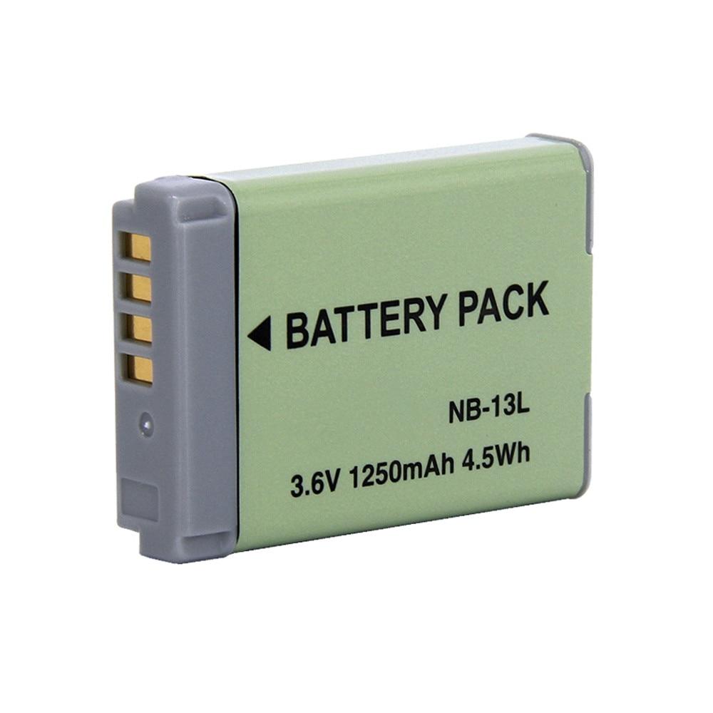 Аккумулятор для цифровой камеры WHCYonline, 1250 мАч, NB-13L, NB13L, NB, 13L, для Canon G7, X, Mark II, G7X, PM165, G5, X, G5X, G9, X, G9X, SX620, SX720, HS
