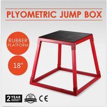 """18 """"휘트니스 운동 점프 상자 plyo 단계 크로스 plyometric 모양 레드 스틸 홈"""