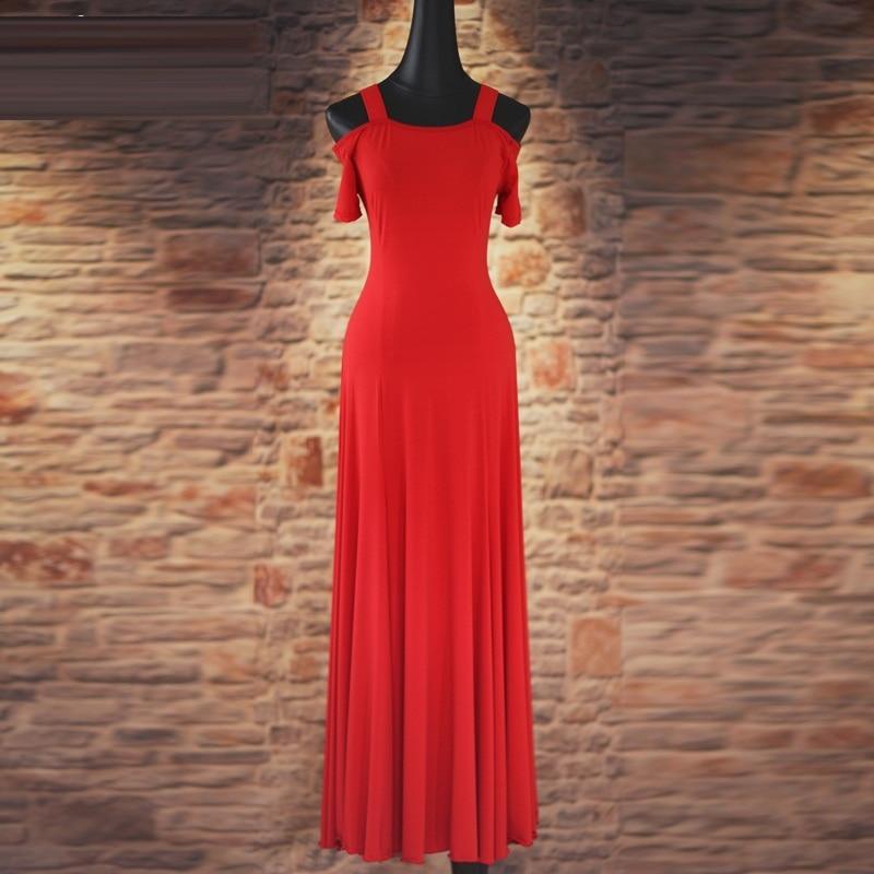 فستان رقص التانغو ، أكمام طويلة ، مقاس قياسي ، 4 ألوان ، أسود/بنفسجي/أزرق ، أداء/تدريب