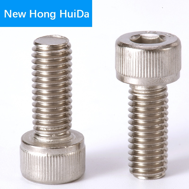 DIN912 Hex Head Socket Cap Screws Hexagon Thread Metric Machine Allen Bolt 304 Stainless Steel M8