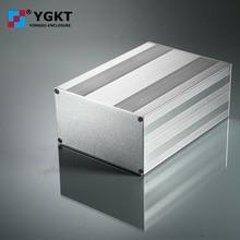 Boîtier électronique 145-82-N mm ()   Boîtier en aluminium, profil extrudé anodisé avec boîtier de couleur noire, boîtier de boîtier