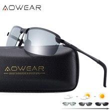 AOWEAR gafas de Sol fotocromáticas polarizadas HD, gafas de Hombre para conducir camaleón, gafas de protección para Conductor de día y noche, Lentes Oculos de Sol Hombre